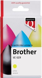 Inkcartridge Quantore Brother LC-123 geel