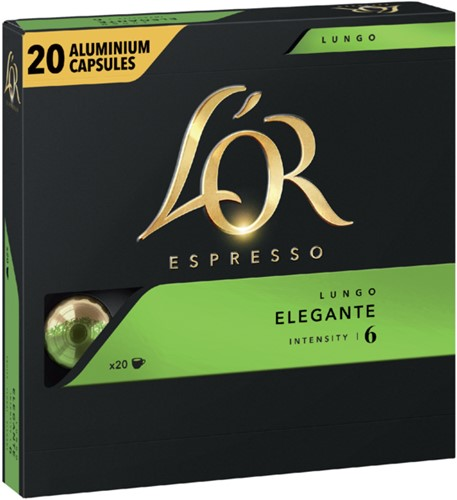 Koffiecups Douwe Egberts L'Or Espresso Elegante 20 stuks-3