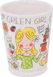 Blond mok green girl