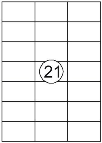 Etiket Quantore 70x42.4mm 2100stuks