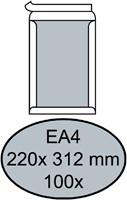 Envelop Quantore bordrug EA4 220x312mm zelfkl. wit 100stuks