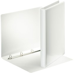 Presentatieringband Esselte Deluxe A4 4-rings D-mech 16mm wit