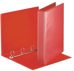 Presentatieringband Esselte A4 4-rings D-mech 30mm rood