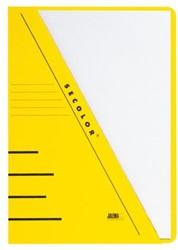 Insteekmap driehoeksmap Jalema Secolor A4 geel