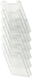 Folderhouder Exacompta wand A4 staand helder transparant