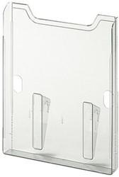 Folderhouder Exacompta wand A4 muurelement 1-vak helder transparant