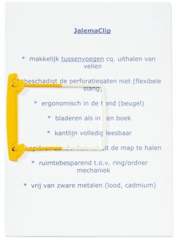 Bundelmechaniek Jalemaclip compleet geel zelfklevend 10 stuk-3