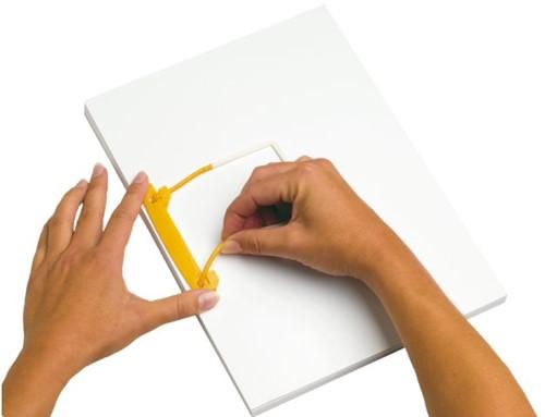 Bundelmechaniek Jalemaclip compleet geel zelfklevend 10 stuk-2