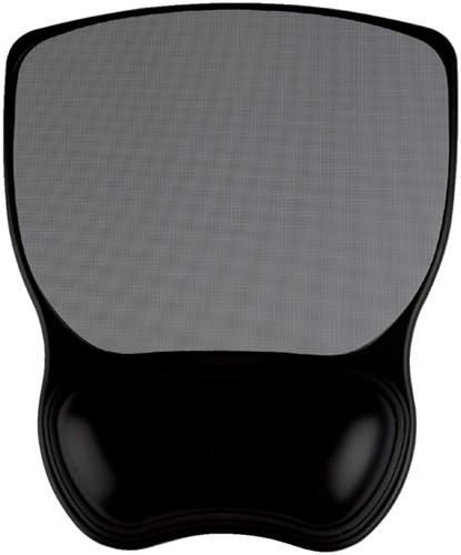 Muismat Quantore met gel polssteun grijs/zwart