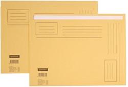 Vouwmap Quantore A4 ongelijke zijde 250gr beige