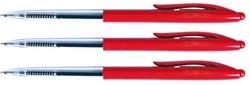 Balpen Quantore drukknop rood medium