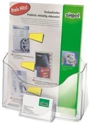 Folderhouder Sigel LH111 1xA4 staand transparant+visitek.