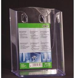 Folderhouder Sigel LH117 1x1/3 wand transparant