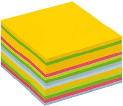 Memoblok 3M Post-it 2030U kubus 76x76mm neon regenboog 450v