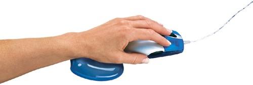 Polssteun voor muis Fellowes Crystals gel transparant blauw