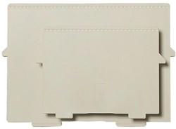 Scheidingsplaat kaartenbak Exacompta A5 dwars grijs