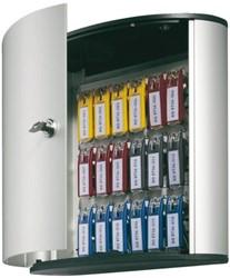 Sleutelkast Durable 1951 aluminium 18haken 302x280x118mm