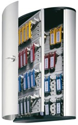 Sleutelkast Durable 1953 aluminium 54haken 302x400x118mm