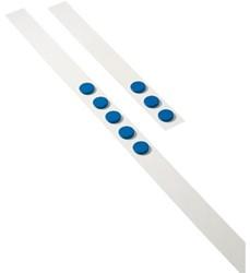 Wandlijst Desq 100cm met 5 blauwe magneten 32mm