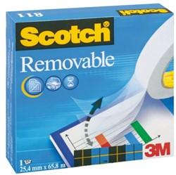 Onzichtbaar plakband Scotch 811 19mmx33m verwijderbaar