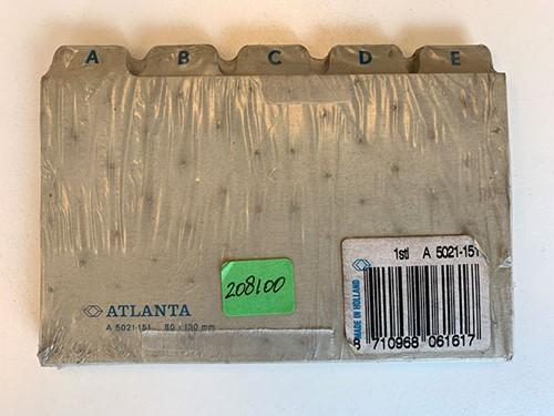 ALFABET A5021-151 KARTON 80X130MM GRIJS