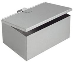 Asverzamelaar RVS rechthoekig 200x140x90mm