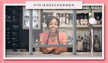 Plexiglas scherm, hygienescherm; baliescherm