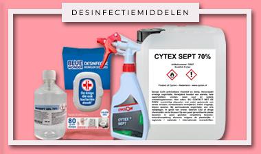 Desinfectiemiddelen, desinfecterende middelen, bestrijding tegen corona.