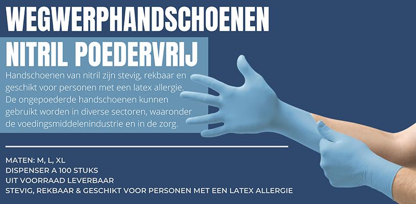 Nitrile handschoenen wegwerphandschoenen uit voorraad leverbaar