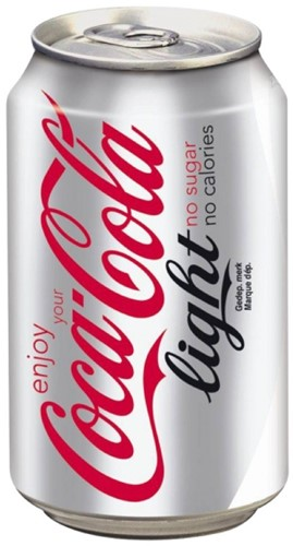 Frisdrank Coca Cola Danish light 33 cl Tray a 24 blikjes