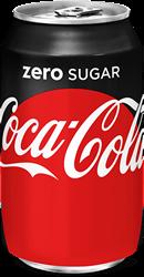 Frisdrank Coca Cola Danish Zero Tray a 24 blikjes a 33 cl