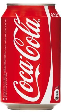 Frisdrank Coca Cola regular, tray a 24 blikjes 33cl