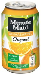 FRISDRANK MINUTE MAID ORANGE BLIKJE A 33CL TRAY A 24 BLK