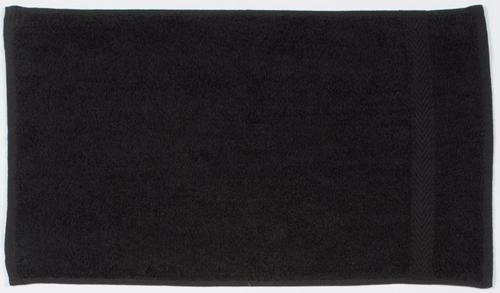 Gastendoek luxe zwart 30x50 cm 550 gsm