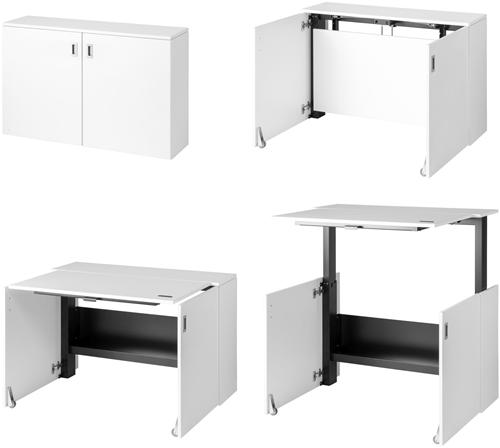 HomeFit ergonomisch zit-/sta-bureau, kleur wit