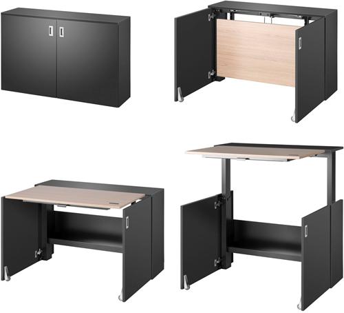 HomeFit ergonomisch zit-/sta-bureau, kleur zwart