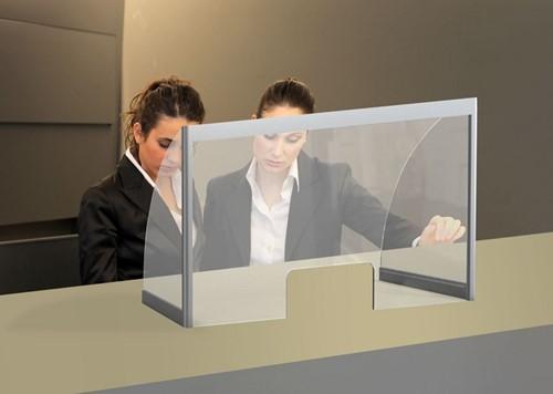 Hygienescherm/veiligheidsscherm transparant 4mm 100x85cm