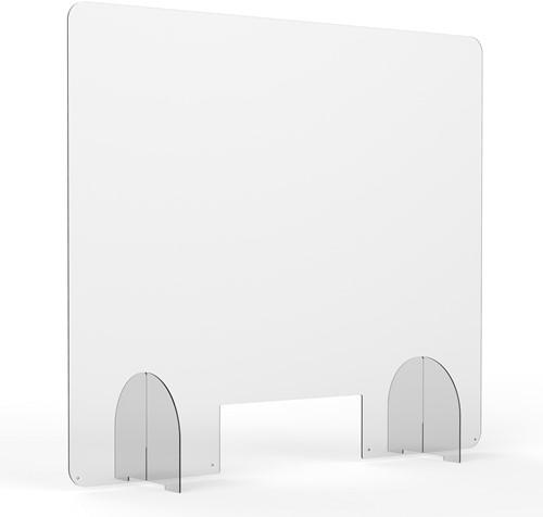 Hygienescherm/veiligheidsscherm transparant 3mm 100x100cm