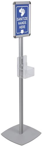 Infostand 140cm incl. 1L houder t.b.v. gel/zeep pompflacon