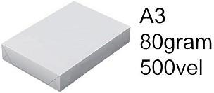 Kopieerpapier Laser Copy A3 80 gr. wit 500 VEL
