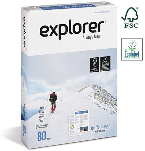 Kopieerpapier Explorer FSC A4 80gr extra wit pak á 500 vel