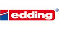 banner van Edding. Schrijfwaren van het merk Edding, Edding is al meer dan 50 jaar een verantwoord en dynamisch merk.