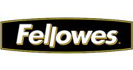 Het logo van Fellowes. Fellowes is een van origine Amerikaanse producent van kantoormachines, ergonomische oplossingen voor op kantoor, archiefopslag en overige kantooraccessoires.