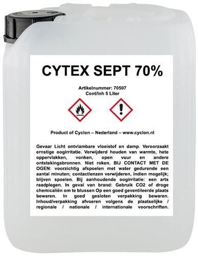 Navulling desinfectie Cyclon Sept 70%, 5 liter