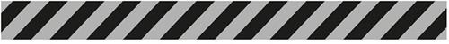 Vloersticker lijn grijs/zwart 7,5x85cm