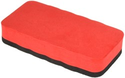 Whiteboardwisser magnetisch 60x110 mm rood