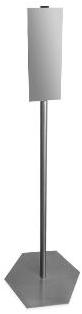 Zuil tbv zeep of desinfectie dispenser 120cm rvs excl dispenser