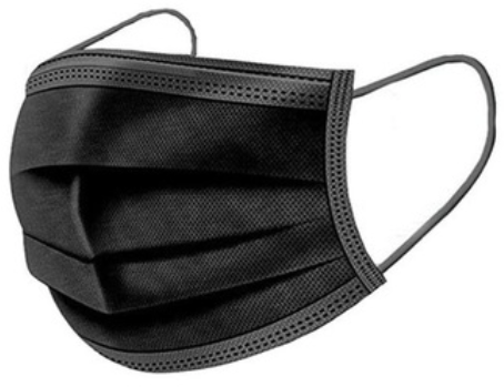 Mondkapje Protective 3-Laags zwart